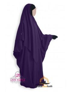 Abaya/Hijab Lycra Umm Hafsa - Eggplant