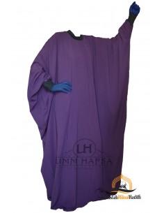 Abaya Lycra Umm Hafsa - aubergine farbe