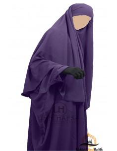Hijab Cape umm hafsa - Eggplant