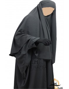 Hijab Cape Umm Hafsa - Grey