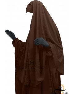 Hijab Cape Umm Hafsa - Marron