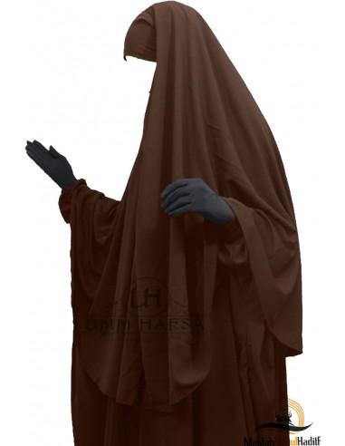Hijab Cape Umm Hafsa - Marron