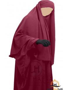 Hijab / khimar Cape Umm Hafsa - Burgundy