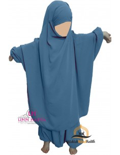 "jilbab child ""pants"" Umm Hafsa - Sky blue"