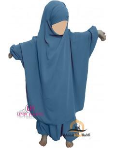 "Jilbab enfant ""Sarouel"" Umm Hafsa - Bleu ciel"