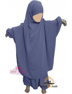 "jilbab child ""pants"" Umm Hafsa - Blue"