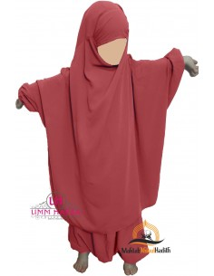"jilbab child ""pants"" Umm Hafsa - Burgundy"