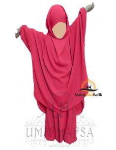 jilbab Kinderhose Umm Hafsa - Korallenfarbe