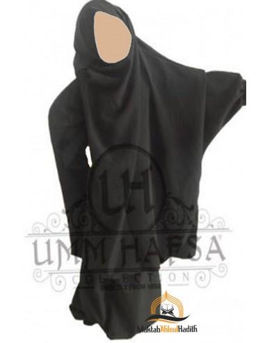 Jilbab enfant avec Sarouel Umm Hafsa - Noir