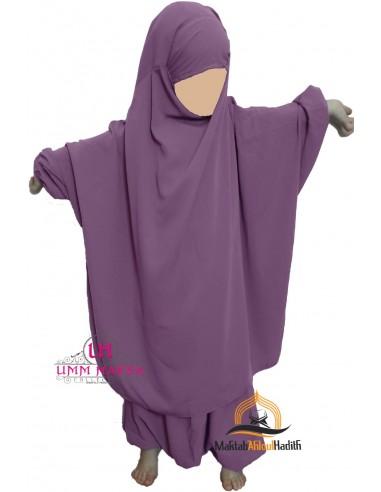 jilbab child pants Umm Hafsa- Purple