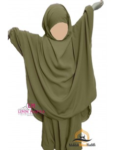 Jilbab enfant avec Sarouel Umm Hafsa - Vert amande