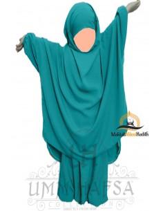 "Jilbab enfant ""Sarouel"" Umm Hafsa - Vert canard"