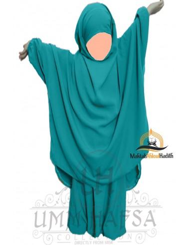 Jilbab enfant avec Sarouel Umm Hafsa - Vert canard