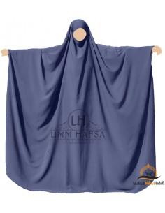 Big jilbab Saudi Umm Hafsa - Blau