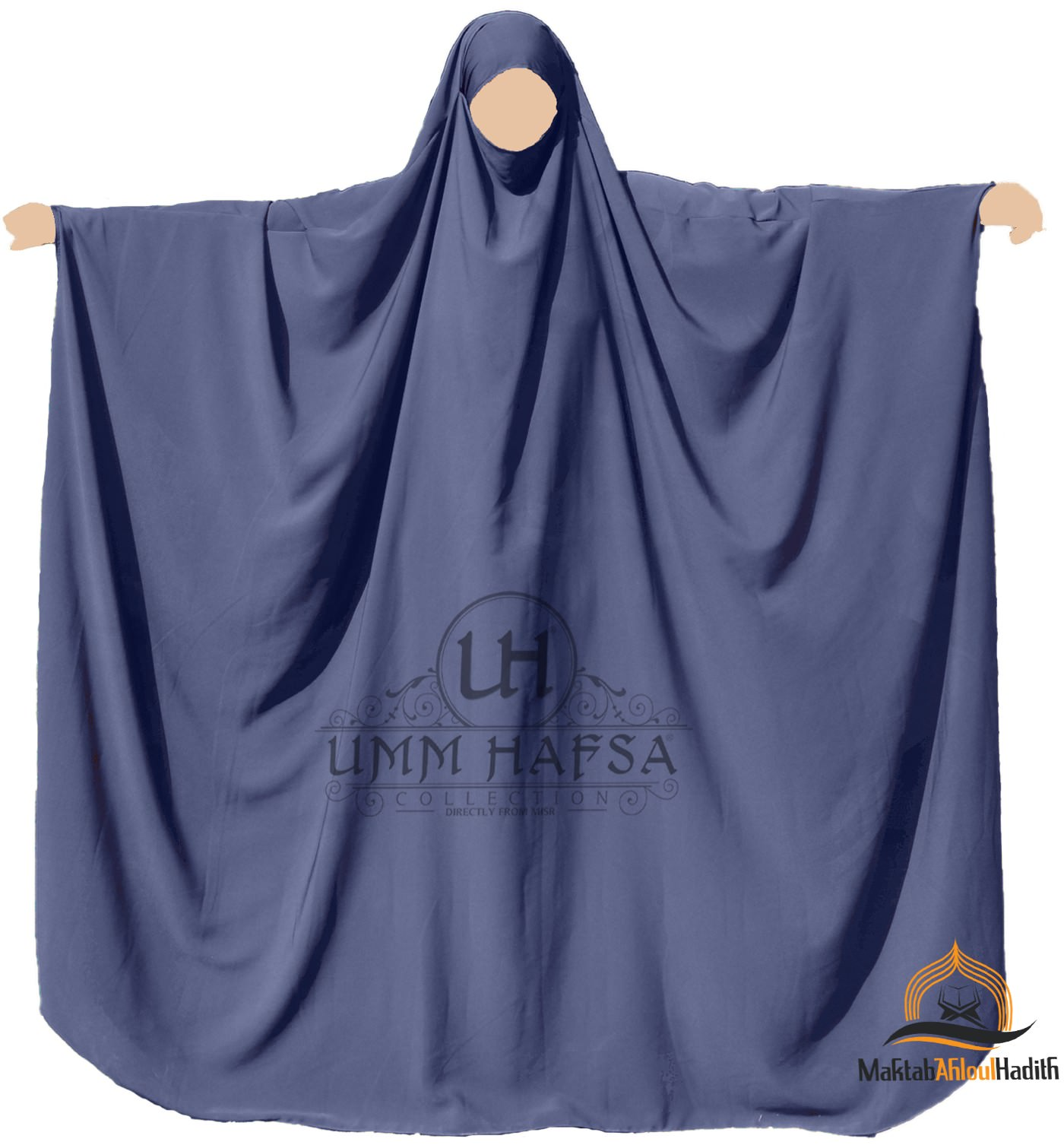 Big jilbab Saoudien Umm Hafsa -Bleu