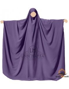 Big jilbab Saudi Umm Hafsa - Eggplant
