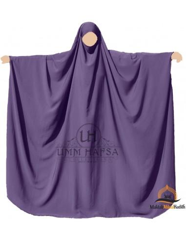 Big jilbab Umm Hafsa - Aubergine