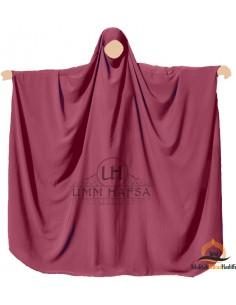 Big jilbab Saudi Umm Hafsa - Burgund