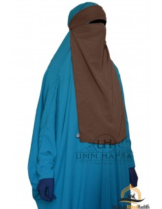 Niqab 1 voile variable Umm Hafsa – Marron