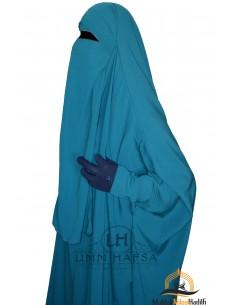 Niqab 1 voile variable Umm Hafsa – Vert Canard