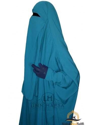 One Layer Niqab variable Umm Hafsa - Green Duck
