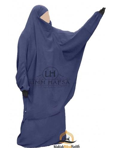 """Jilbab 2 pieces Classique """"jupe"""" Umm Hafsa """"Caviary"""" - Bleu"""