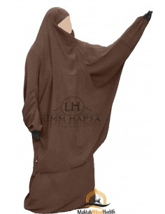"Two Piece Jilbab Classic ""Skirt"" Umm Hafsa ""Caviary"" - Brown"