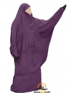 "Two Piece Jilbab Classic ""Skirt"" Umm Hafsa ""Caviary"" - Purple"
