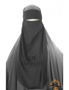 Niqab 1 segel variable Umm Hafsa - Schwarz