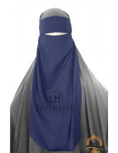 Niqab 1 voile variable Umm Hafsa – Bleu