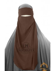 One Layer Niqab adjustable Umm Hafsa - Brown