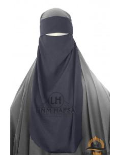 Niqab 1 voile ajustable Umm Hafsa – Gris