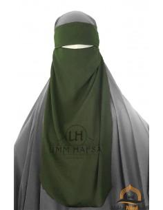 Niqab 1 voile ajustable Umm Hafsa – Kaki