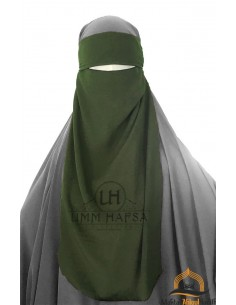 One Layer Niqab adjustable Umm Hafsa - Green