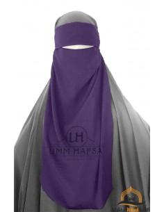 Niqab 1 voile ajustable Umm Hafsa – Aubergine