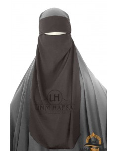 Niqab 1 voile variable Umm Hafsa – Taupe