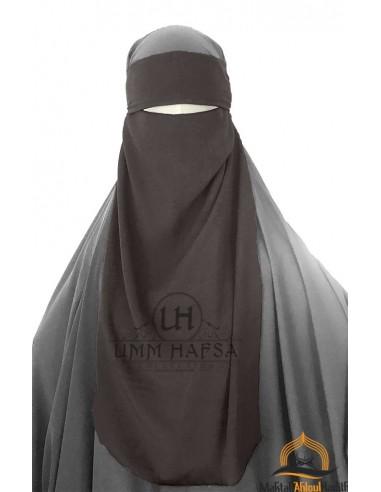 Niqab 1 segel variable Umm Hafsa - Taupe