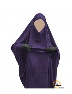 "Jilbab de maternage/allaitement ""sarouel"" Umm Hafsa – Aubergine"