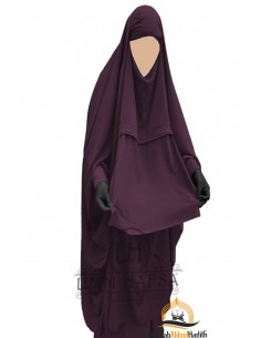 "Jilbab de maternage/allaitement ""sarouel"" Umm Hafsa – Prune"