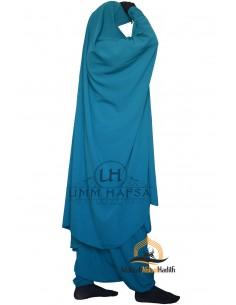 """Jilbab de maternage/allaitement """"sarouel"""" Umm Hafsa – Vert canard"""