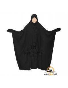 "Jilbab Saudi 1 Stück Classic Umm Hafsa ""LUXUX CAVIARY"" - schwarz"