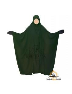 "Jilbab Saoudi Classic Umm Hafsa ""LUXURY CAVIARY"" – GREEN"