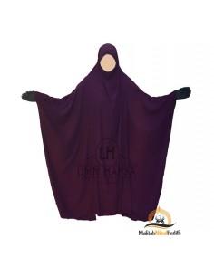 "Jilbab Saoudien Classique Umm Hafsa ""CAVIARY LUXE"" - Prune"