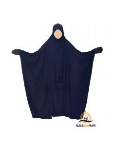 """Jilbab Saoudien Classique Umm Hafsa """"CAVIARY LUXE"""" - Bleu"""