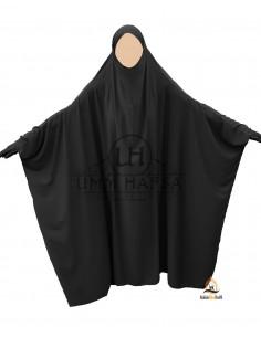 """Jilbab Saoudien Classique Umm Hafsa """" NIDHA Luxe """" - Noir"""