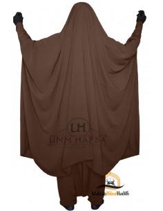 "Jilbab de maternage/allaitement ""sarouel"" Umm Hafsa – Marron"