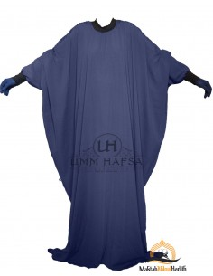 "Abaya Lycra Umm Hafsa ""Luxury Caviary"" – Blue"