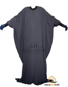 """Abaya Lycra Umm Hafsa """"Caviary Luxe"""" – Gris"""