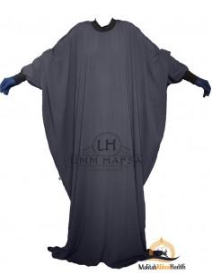 "Abaya Lycra Umm Hafsa ""Luxury Caviary"" – Grey"