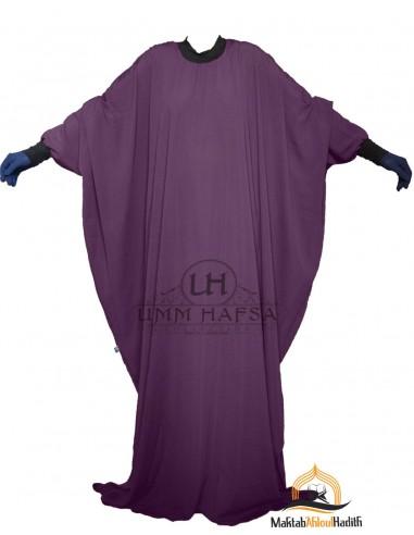 """Abaya Lycra Umm Hafsa """"Caviary Luxe"""" – Prune"""